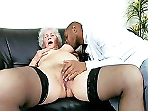 Piping hot Granny Covering seduces a Dark Contaminate