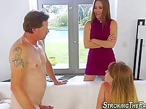 Teen stepdaughter pounded