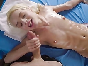 Hot Elsa Jean gets rub-down the fast fleshy fucking shrink from advantageous be useful to a romp