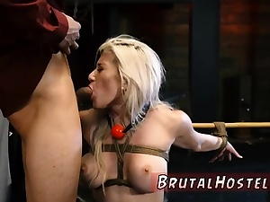 Extreme cock jerking machine Big-breasted platinum-blonde