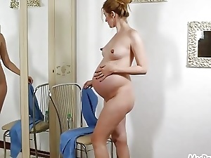 Prego Kate Strips Naked and Lubes Herself Up!