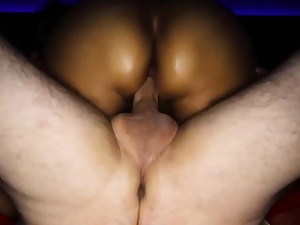 Natty the horny and round unexperienced wifey