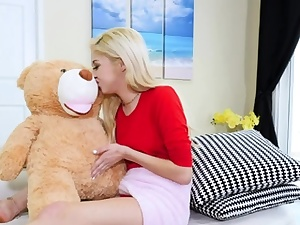 Girlfriend frolicking insatiable with otter